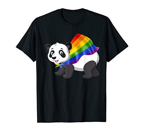 (Vintage Gay Pride Flag Panda Bear T-Shirt LGBT Pride Gifts)