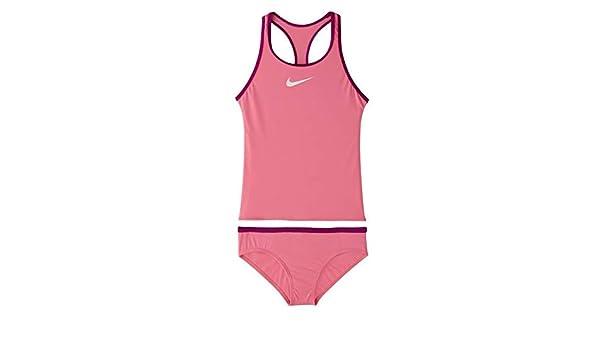 Nike Womens Sport Heathered Layered Tankini Top X-Large Fuchsia Explosion