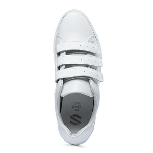 Sacha Weiße Sneaker mit Klettverschluss