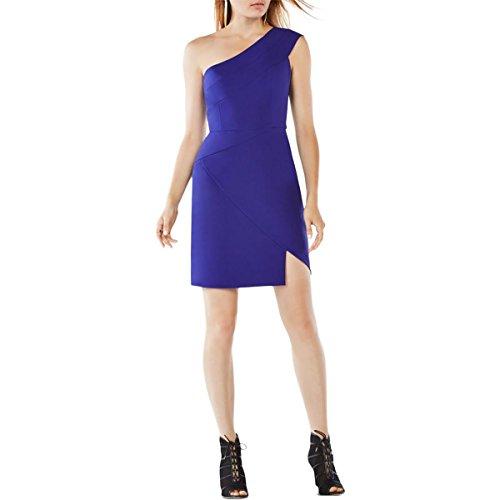 BCBG Max Azria Womens Aryanna One-Shoulder Mini Cocktail Dress Blue 0