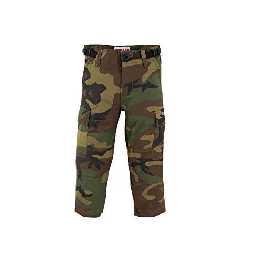 (Shikaar BDU Style 6 Pocket Toddler Fatigue Pants (Woodland Camo, 3T))
