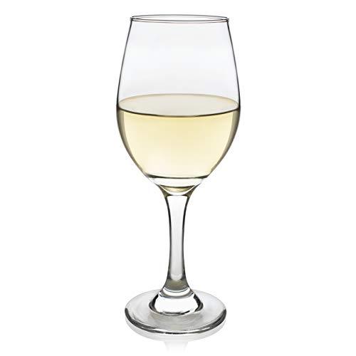 (Libbey Basics White Wine Glasses, Set of 4)