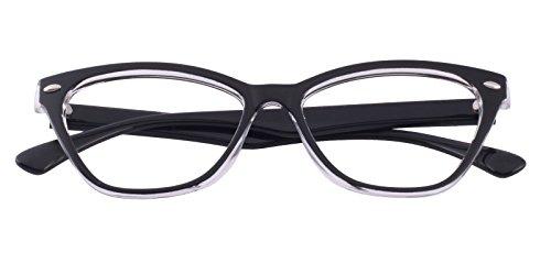Glassesshop Classic Vintage Inspired Cat Eye Clear Lens Prescription Eyeglasses - Get For Lenses Prescription Frames