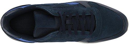 Reebok Mens Cl In Pelle Sneaker Estl Collegiate Navy / Acid Blue / Chalk