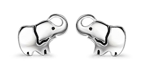 925 Sterling Silver Cat Elephant Penguin Animal Stud Earrings,with Gift Box (A-elephant)