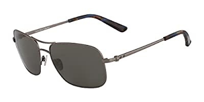 Calvin Klein Collection - CK7497S, Geometric, metal, men, RUTHENIUM/DARK BROWN (033 H), 59/17/140