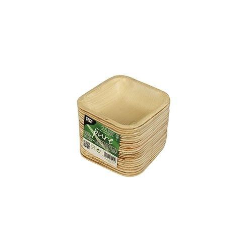 Schalen Palmblatt pure eckig 100 ml 10 cm x 10 cm x 2,8 cm 25 St/ück