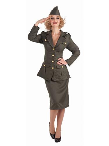 Forum Novelties Women's WWII Army Gal Costume, Green, ()