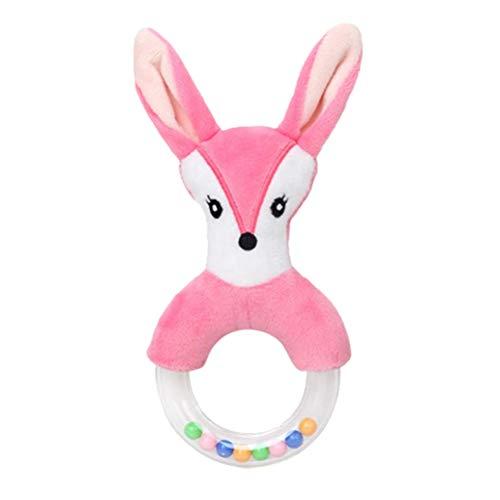 STOBOK 1pc Baby Cartoon Stuffed Animal Baby Soft Plush Hand Rattle Toys Educational Development Toys (Fox)