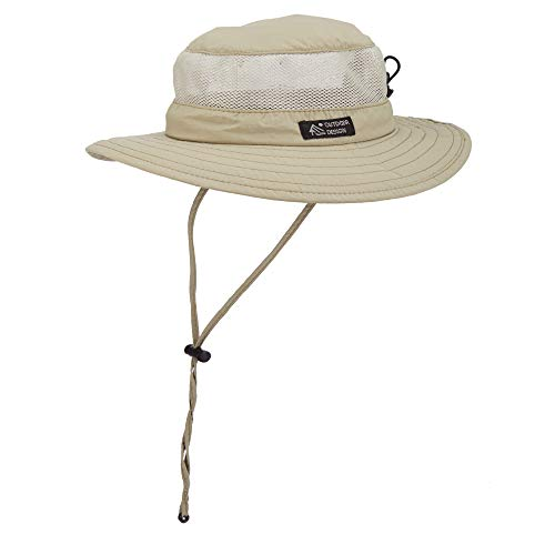 (Dorfman Pacific Men's Bonnie Mesh Sides Hat, Khaki, X-Large )