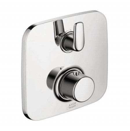 Axor 19706001 Bouroullec Thermostatic Trim with Volume Control  and  Diverter, Chrome Hansgrohe