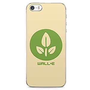 Loud Universe Wall E Flower iPhone SE Case Wall E Green Planet iPhone SE Cover with Transparent Edges