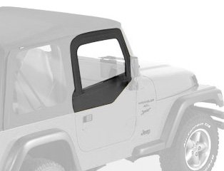 Bestop 51790-35 Black Diamond Fabric Upper Half Doors Set for 1997-2006 Wrangler TJ - - Door Seal Tj Half