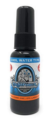BluntPower 1 Ounce Bottle Oil Based Concentrated Air Freshener Oil for Burner, Cool Water