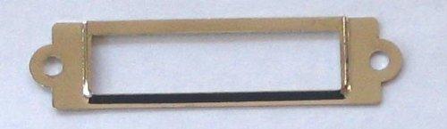 (25 Label/card Holder Nickel Plated 5/8x2 1/2 W/screws)