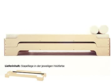 Stapelliege Birke Rolf Heide, Größe:90 X 190 Cm;Variante:natur Geölt