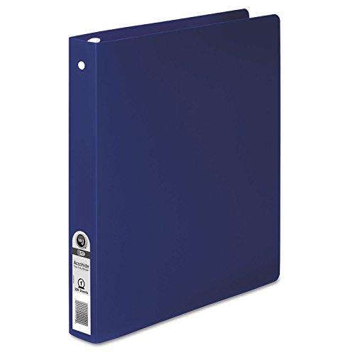 ACCO 39712 ACCOHIDE Poly Round Ring Binder, 35-pt. Cover, 1-Inch Cap, Dark Blue