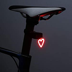 Bike Lights,Bike Light,Mountain Bike Lights Bike Ligh Multi Lighting Modes Bicycle Light Led Bike Light Flash Tail Lights for Mountains Bike Seatpost(Heart) Bike Lights Front and Back