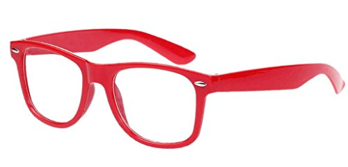 Bigood Retro Vintage Clear Lens Frame Wayfarer Trendy Nerd Geek Glasses - Online Geek Glasses