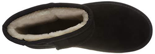 Luna Esprit Donna black Nero Stivali 001 Arricciati Bootie gx1U1n