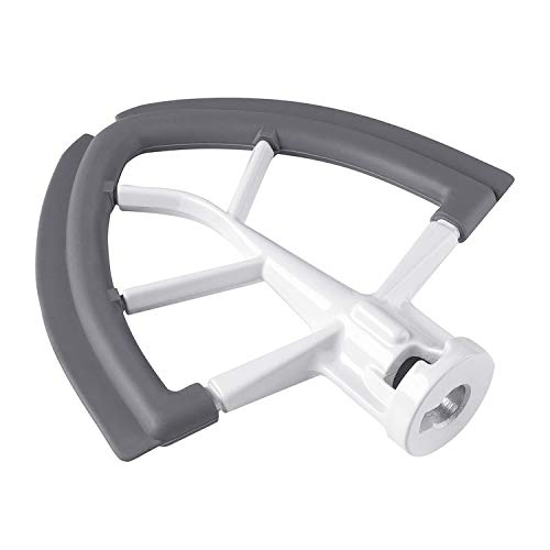 Flex Edge Beater for KitchenAid 4.5-5 Quart Tilt-Head Stand Mixer Flat Beater Blade with Silicone Edges Flex Edge Bowl Scraper (Flat Beater Kitchenaid)