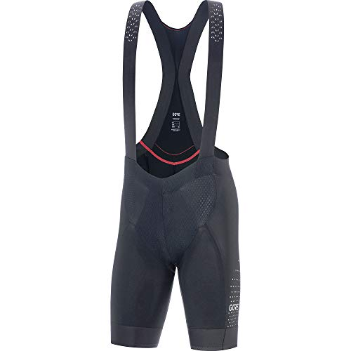 GORE WEAR C7 Men's Ventilated Racing Bib Shorts with Seat Insert, L, Black