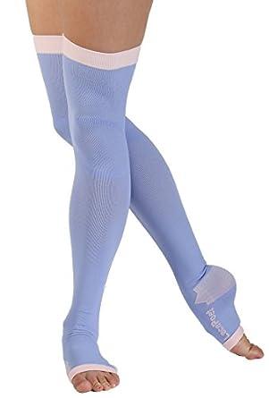 Lace Poet - Calcetines de compresión para yoga/sueño, varios colores