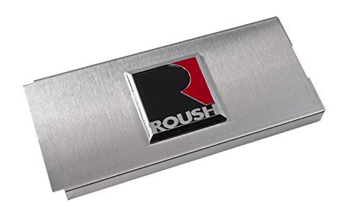 2011-2014 Mustang Brushed Stainless Fuse Box Cover - ROUSH