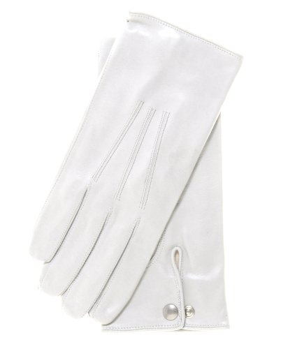 Fratelli Orsini Men's Formal Leather Gloves Size 9 Color White -