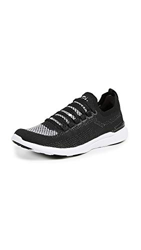 APL: Athletic Propulsion Labs Women's Techloom Breeze Sneakers, Black/Metallic Silver/White, 7.5 M -