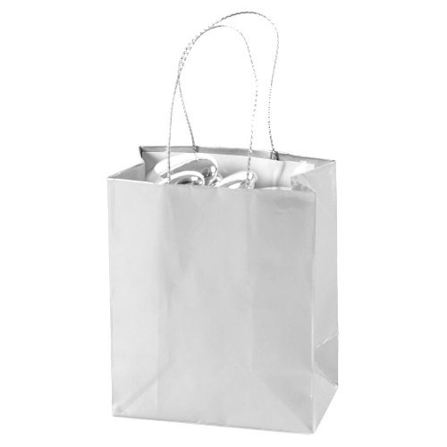 Mini Silver Gift Bags (2 dz) (Silver Gift Bags With Handles)
