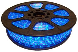 CBconcept 12VLR-65FT-B Blue 65-Feet Low Voltage 12-volt 2-Wire 1/2-Inch LED Rope Light, Christmas Lighting, Indoor/Outdoor Rope Lighting