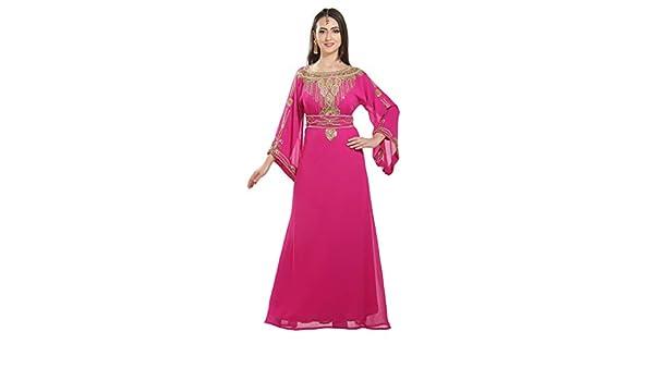 792076978 Genie Aladdin Fancy Maxi Dress Evening Wear Night Gown for Arabian Ladies  7170 at Amazon Women s Clothing store