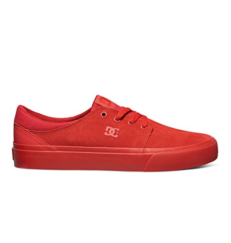 DC Shoes Mens Shoes Trase Sd - Low-Top Shoes - Unisex - US 8 - Red Red US 8 / UK 7 / EU 40.5