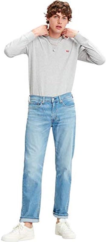 Levis® dżinsy męskie 514(TM) - Straight Fit - niebieskie - Florida Light Mid W30-W40 stretch jeans 96% bawełna: Odzież