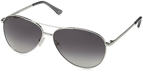 - Obsidian Sunglasses for Women or Men Aviator Frame 03, Silver, 61 mm