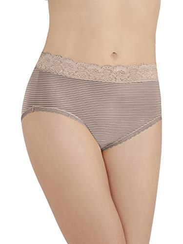 - Vanity Fair Women's Flattering Lace Brief Panty 13281, Toasted Coconut, 2X-Large/9