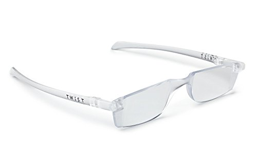 Twist Stylish - TWIST ONE read Flat Folding Reading Glasses (+2.00, Ice Clear)