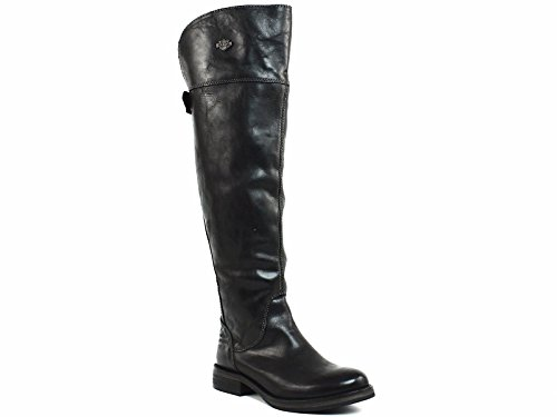 Harley-Davidson Women's Monique Work Boot, Black, 5.5 M (Harley Davidson Boots Leather Heels)