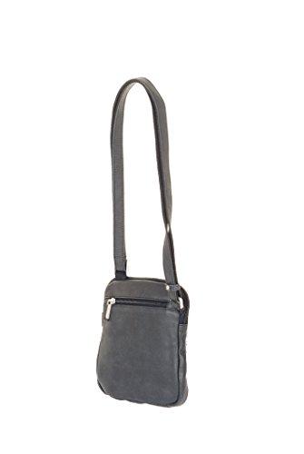 Bolsa bandolera de cuero negro para hombre, marca francesa Arthur et Aston