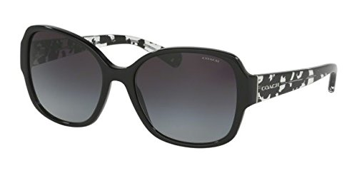 Coach Womens Sunglasses (HC8166) Black/Grey Acetate - Non-Polarized - - Coach Spectacle Frames