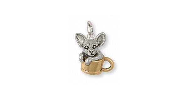 Chihuahua Jewelry Chihuahua Earrings Jewelry Silver And Gold Handmade Chihuahua Earrings CU19-TNE