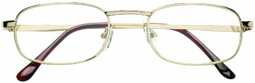 Dr. Dean Edell 1/2 Pocket Clip Reading Glasses, Gold Metal with Brown Temple Tips, +1.25, 0.200 Ounce