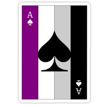 Ace Print - Chili Print Ace of Spades (Asexual Flag) - Sticker Graphic Bumper Window Sicker Decal - Gay Pride Sticker