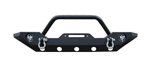 FI-Drive Black Front Bumper Guard w/Winch Plate Series-6 for 2007-2019 Jeep Wrangler JK/JL Rock New Crawler W/Winch Plate