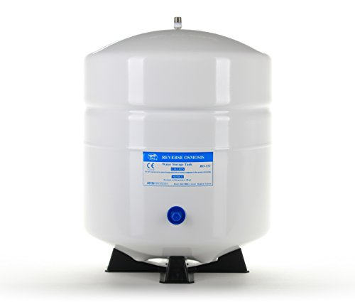 Steel Water Storage Tanks (Hydronix RO-132-W14 Stainless Steel 4.5 Gallon Reverse Osmosis Storage Water Tank - White, 1/4
