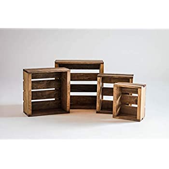 Darla'Studio 66 Set of 4 Nesting Box Wood Crates