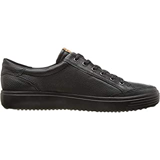 ECCO Men's Soft 7 Long Lace Sneaker, Black, 43 M EU (9-9.5 US)