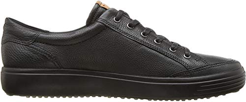 ECCO Men's Soft 7 Long Lace Sneaker, Black, 44 M EU (10-10.5 US)