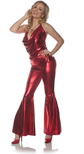 Underwraps Women's 1970s Disco Costume Set-Ladies Night-Red, Large ()